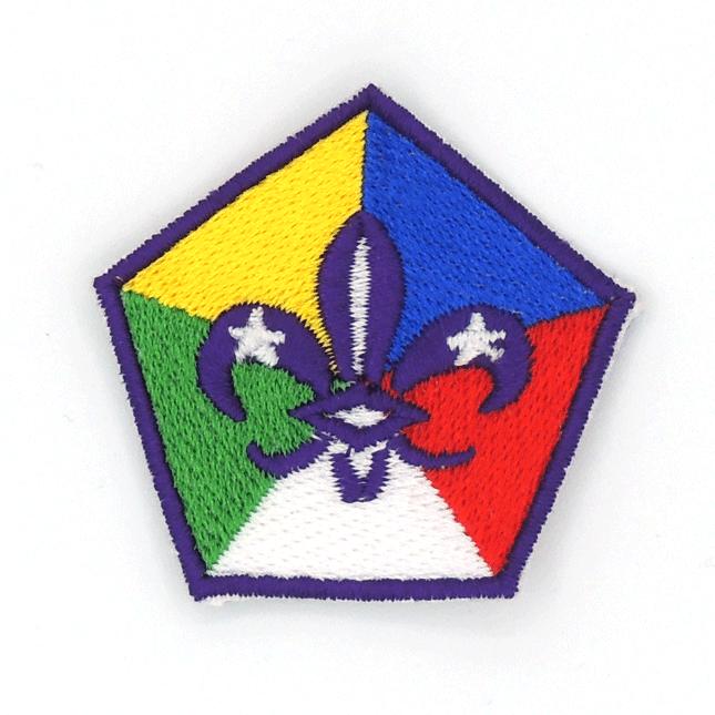Insignia Pentagonal Flor de Lis