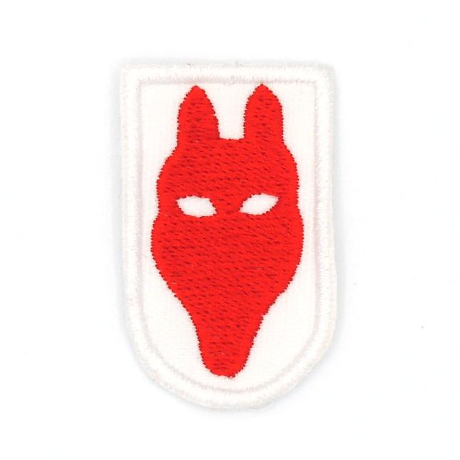 Cabeza de lobato roja