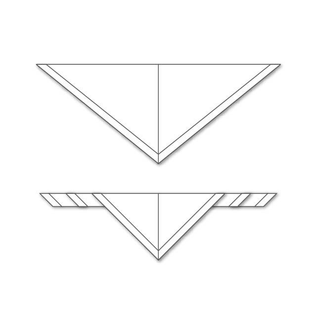 Fulard mig triangle de cada color i...