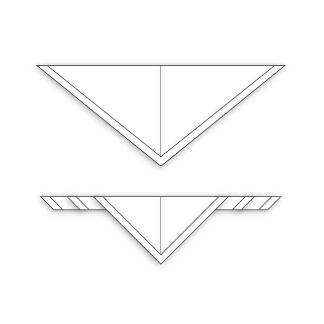 Fulard amb rivet i mig triangle de...